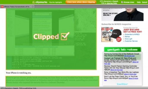 Clipmarks clipping 500x303 Social Bookmarking v2.0