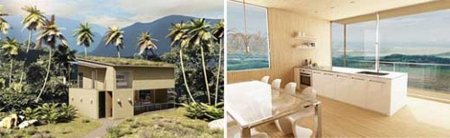 gau modular bamboo house1 500x154 Casa modular de Bambu