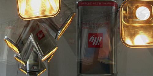 8017741 9465cb1420 o Luminária com latas de café