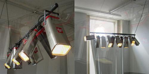 8017745 7f812cc6ab o Luminária com latas de café