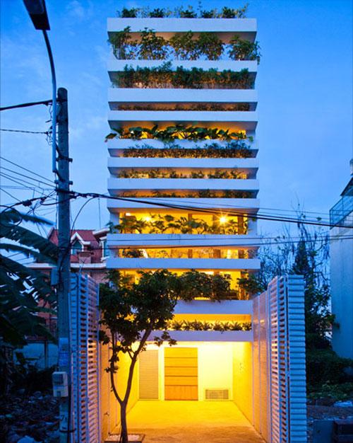 casa jardim 02 Fachada verde permite horta em todos os andares