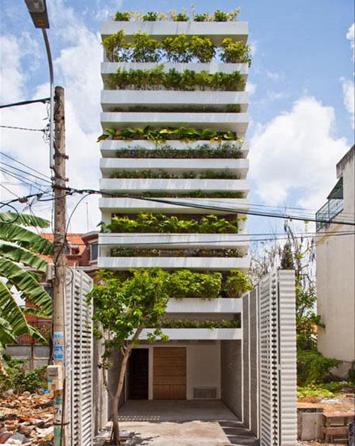 casa jardim 03 Fachada verde permite horta em todos os andares