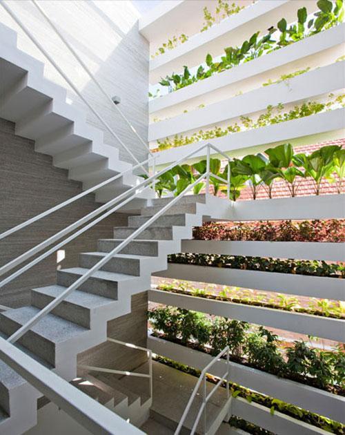 casa jardim 06 Fachada verde permite horta em todos os andares