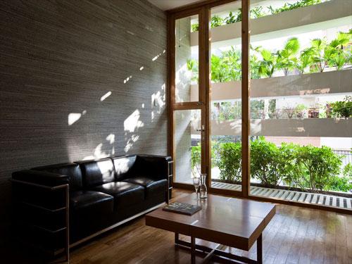 casa jardim 07 Fachada verde permite horta em todos os andares