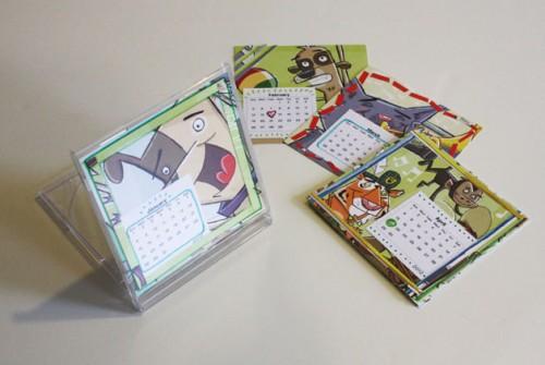 Tetris organiza o interessante n o 11 ideias para reciclar caixas de cd 39 s - Calendario da tavolo con foto proprie ...