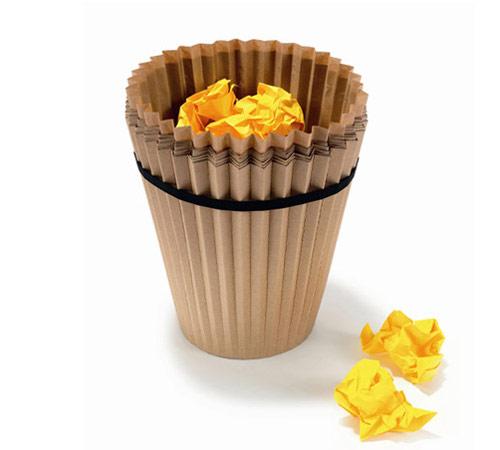 Cesta de lixo de papel reciclado rodrigo barba for Best out of waste innovative ideas