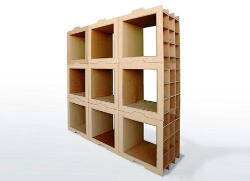 9858467 aadfe5fab1 o Estante modular de papelão em forma de caixas