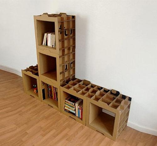 9858470 95062a49b9 o Estante modular de papelão em forma de caixas