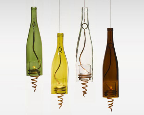 9895136 da93ca414a o Luminárias com velhas garrafas de vinho