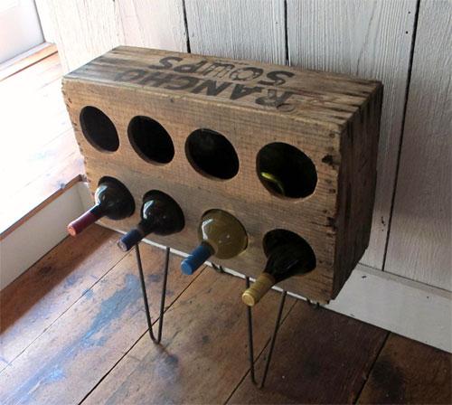 9933600 927d680c36 o Porta vinhos com caixa de madeira