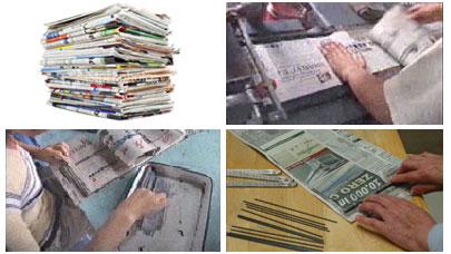 9960640 772feb4a74 o Lápis feito de jornal reciclado