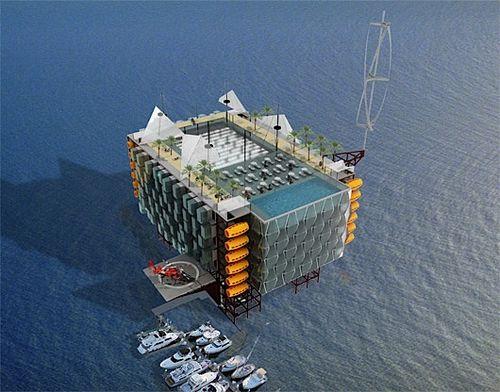 hote plataforma petroleo 5 Hotel em uma plataforma de petróleo em alto mar