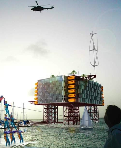 hote plataforma petroleo 6 Hotel em uma plataforma de petróleo em alto mar