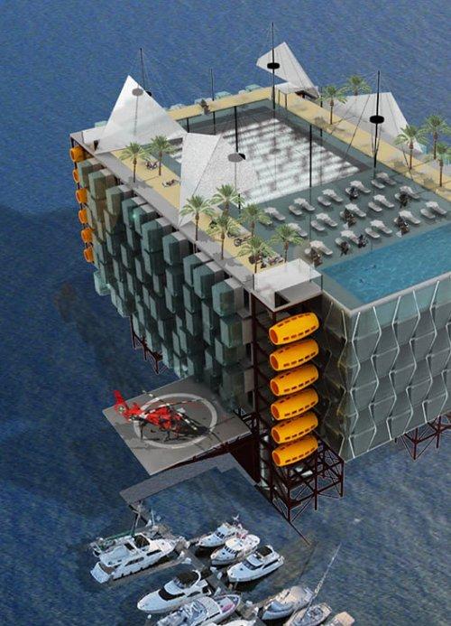 hote plataforma petroleo 7 Hotel em uma plataforma de petróleo em alto mar