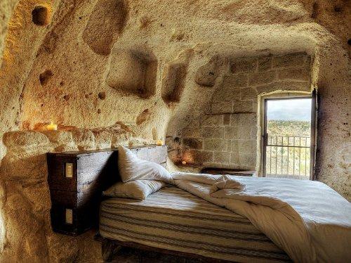 hotel caverna le grotte della civita 1 Hotel dentro de uma caverna na Itália