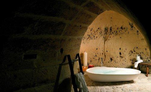 hotel caverna le grotte della civita 21 Hotel dentro de uma caverna na Itália