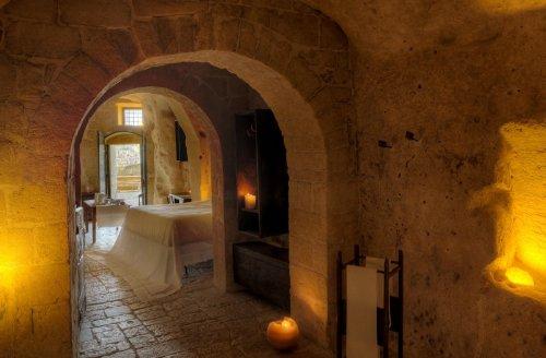 hotel caverna le grotte della civita 4 Hotel dentro de uma caverna na Itália