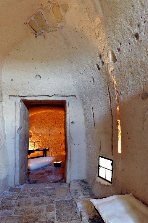 hotel caverna le grotte della civita 5 Hotel dentro de uma caverna na Itália