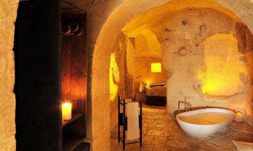 hotel caverna le grotte della civita 9 Hotel dentro de uma caverna na Itália