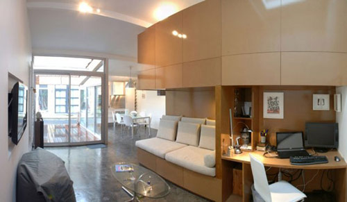 garagem casa 05 Garagem de 40 m² transformada em uma casa moderna
