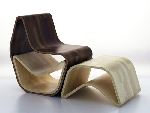 gval ottoman 02 Cadeira GVAL   Duas ottomans em uma cadeira