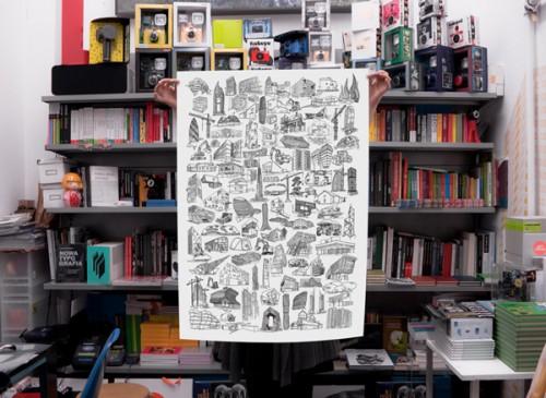 arquitetura seculo 21 02 500x365 Pôster com 100 desenhos da arquitetura do séc. XXI