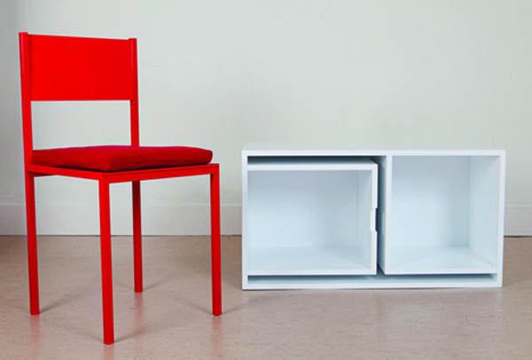 estante mesa embutida 06 Estante com mesa e cadeiras embutidas